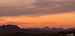 Sunrise over Sierra del Carmen