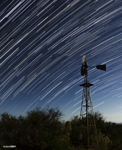 Star Trails at Dugout Wells