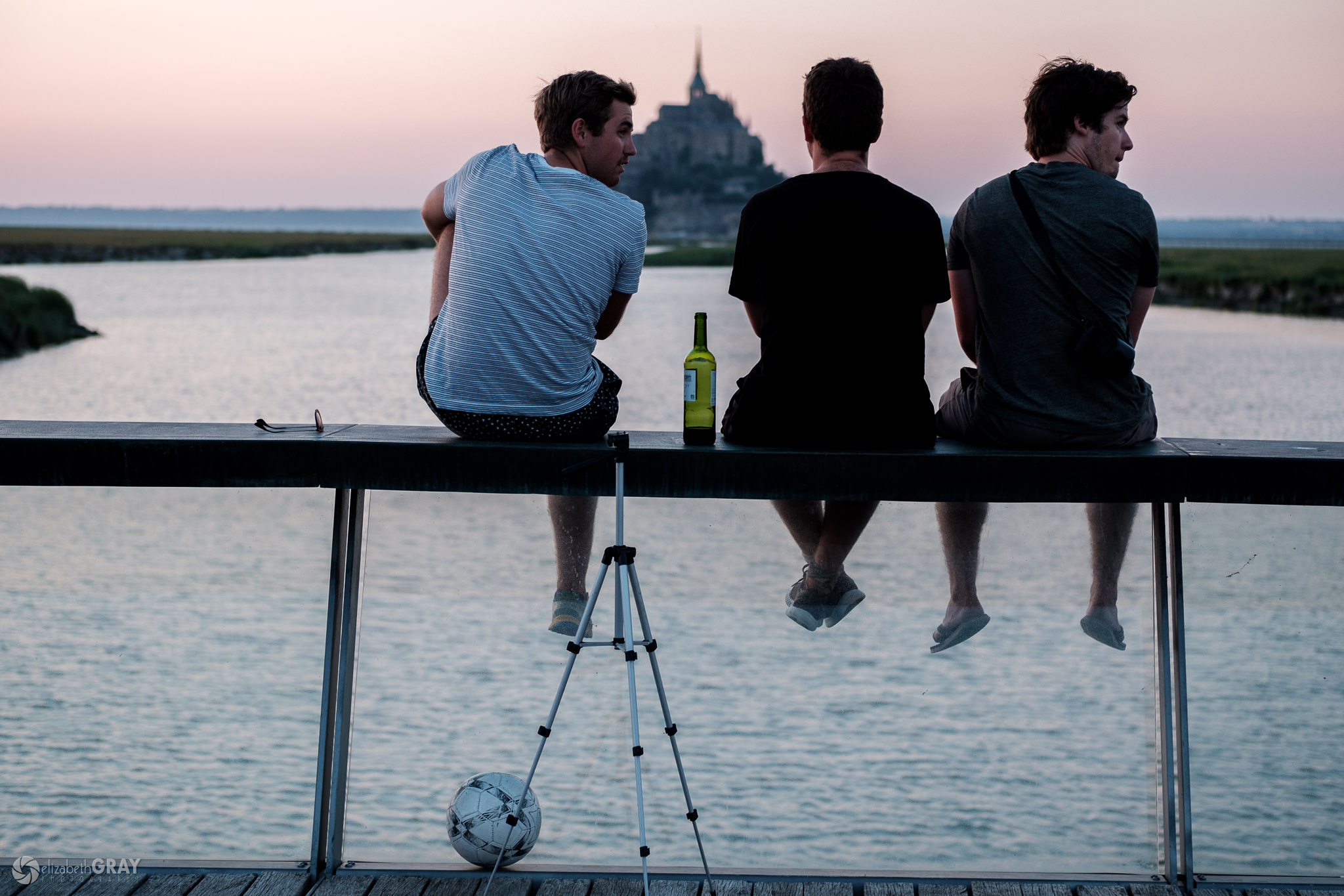 Three Friends, A Sunset, and a Bottle of Wine