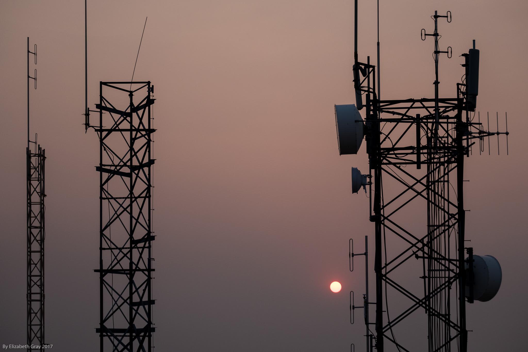 Sun and Antenna